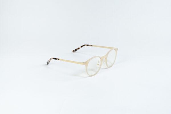 Blaulichtfilter Brille Beige Amber Seitlich
