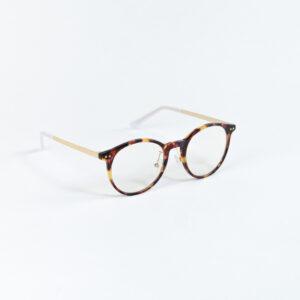Blaulichtfilter Brille Havana Seitlich